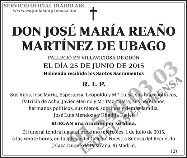 José María Reaño Martínez de Ubago